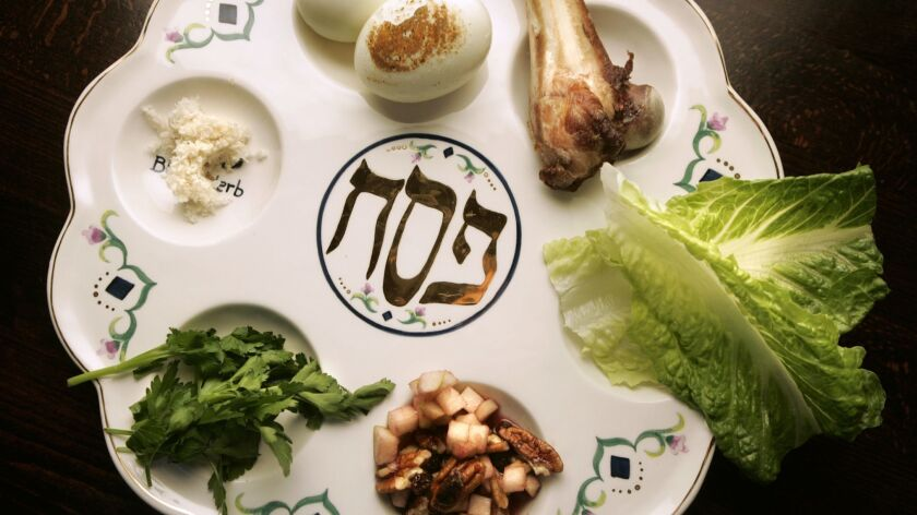 March 25, 2010- San Diego, CA- The traditional Passover Seder plate at Urban Solace in North Park. T