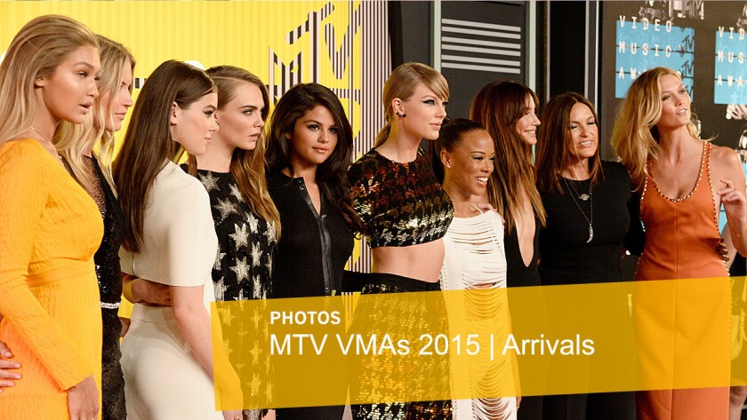 Red carpet arrivals for the 2015 MTV Video Music Awards at Microsoft Theater in Los Angeles, California.