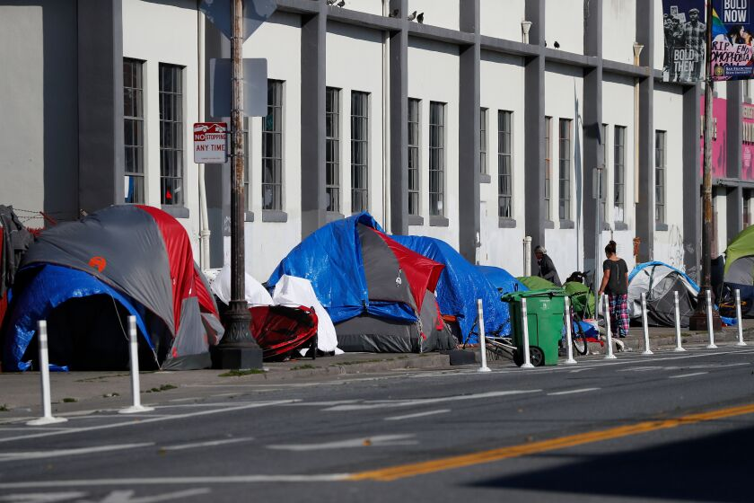 Seventy people test positive for coronavirus at San Francisco's largest homless shelter, USA - 10 Apr 2020