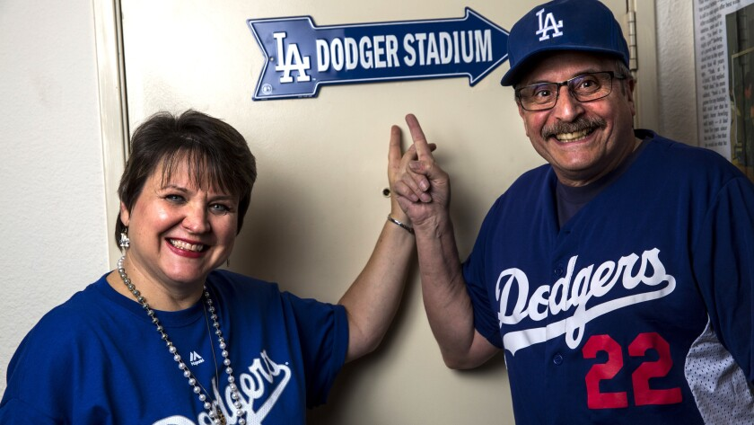 GLENDALE, CA - JANUARY 11: Bill Snoberger and Mary Jones pose for a portrait on Thursday, Jan. 11, 2