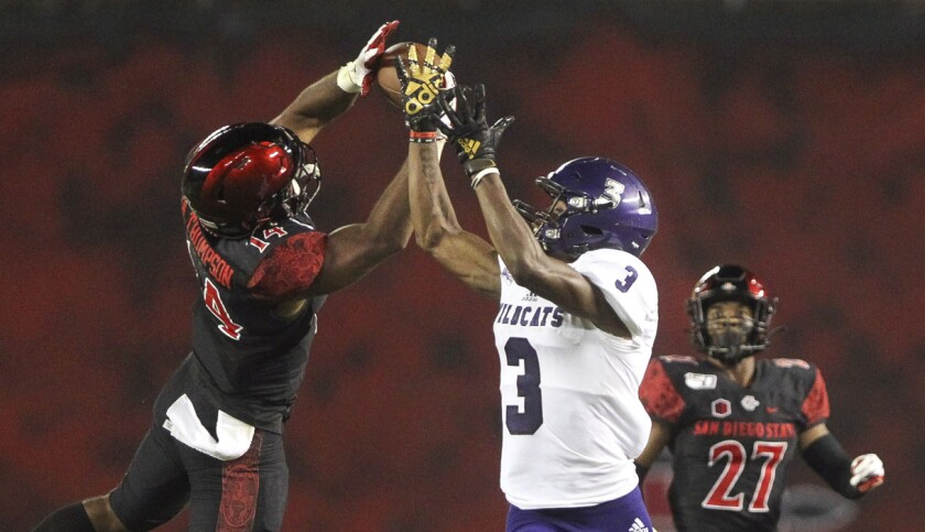 San Diego State safety Tariq Thompson is one of three SDSU defensive backs who have declared for the 2021 NFL Draft.