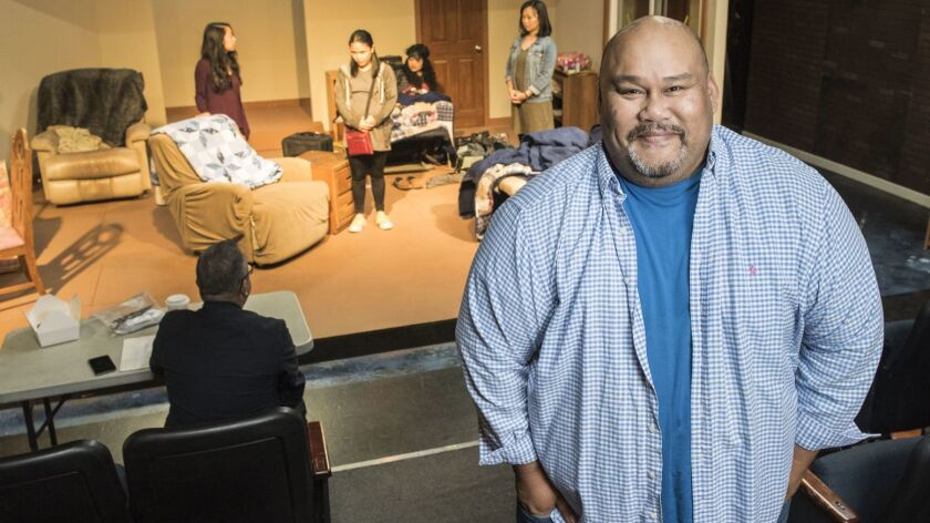 Playwright Boni B. Alvarez's show ?America Adjacent,? is being produced at the Skylight Theatre in L