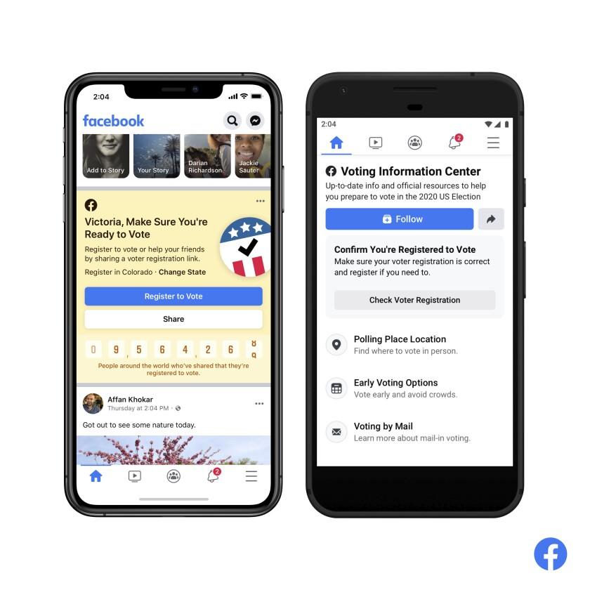 Facebook's new Voting Information Center