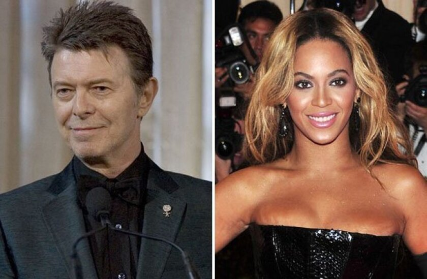 David Bowie and Beyonce