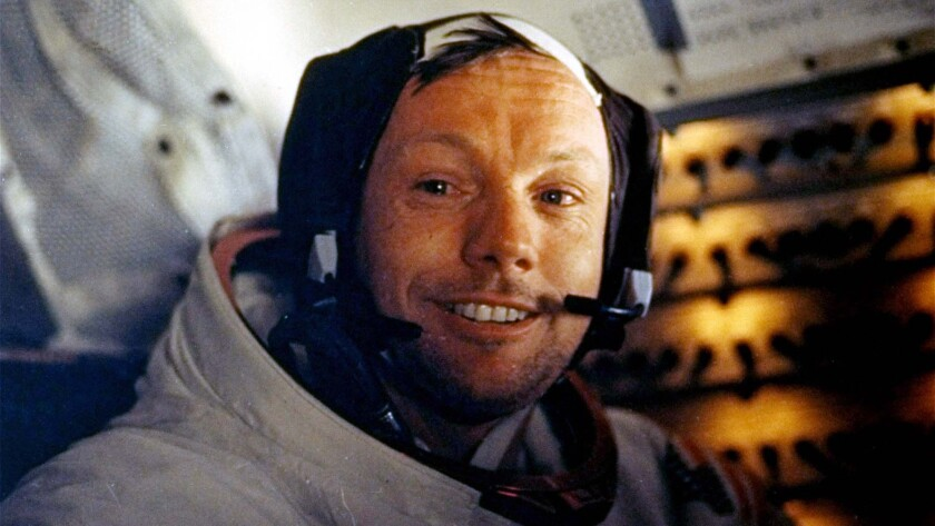Neil Armstrong during the Apollo 11 mission to the moon.