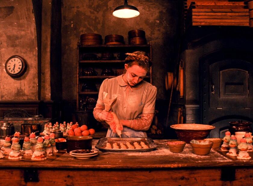 """Saoirse Ronan as """"Agatha"""" in movie THE GRAND BUDAPEST HOTEL."""