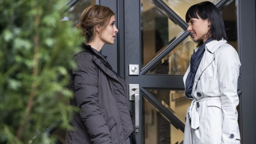 "Rachel Goldberg (Shiri Appleby), left, and Quinn King (Constance Zimmer) in ""UnREAL."""