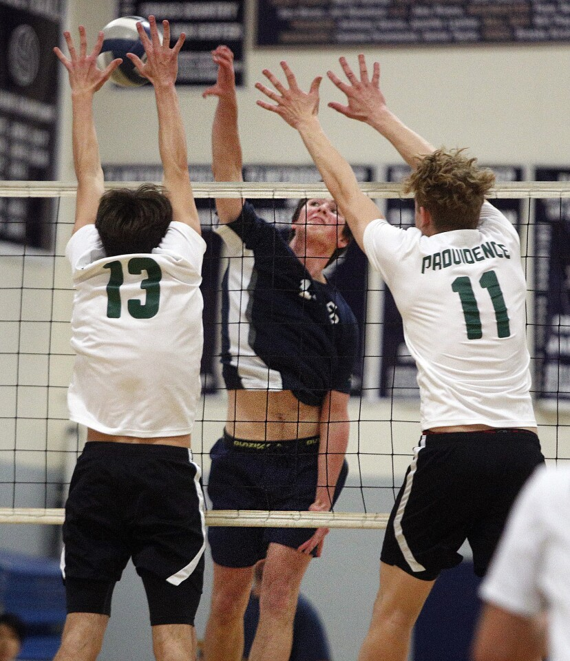 Photo Gallery: Flintridge Prep vs. Providence in Prep League boys' volleyball