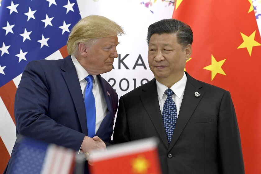 President Trump and Xi Jinping