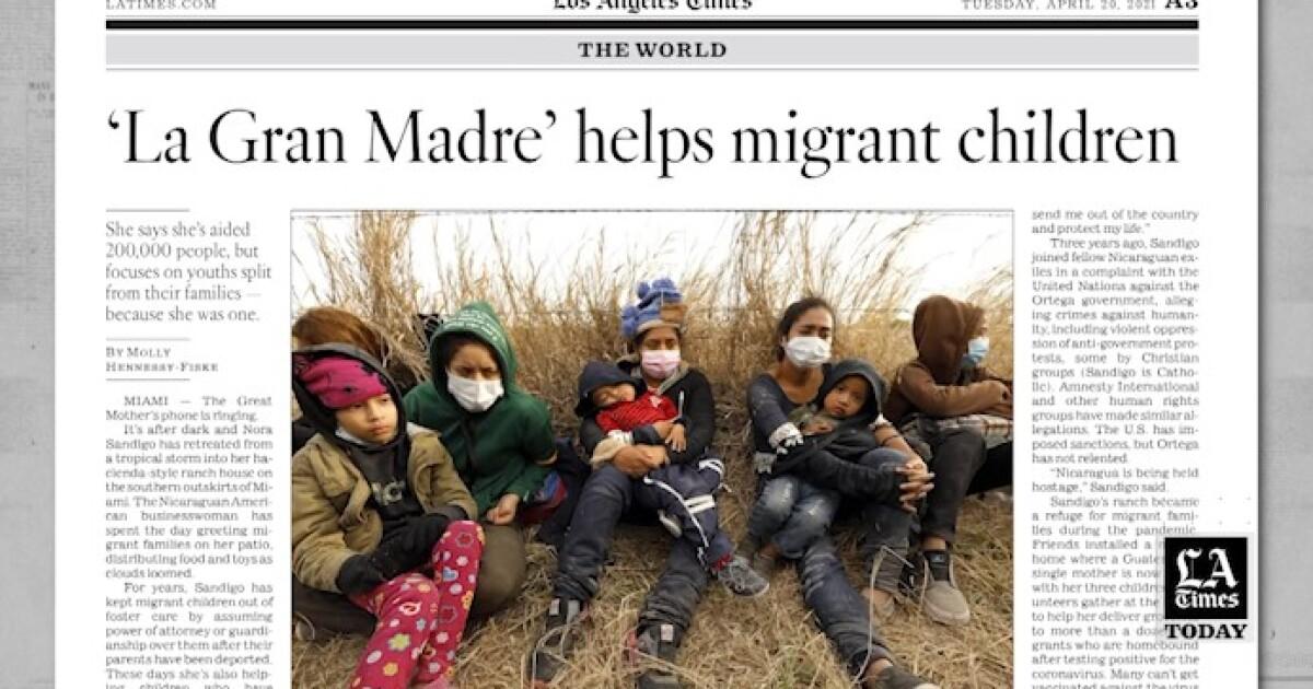 LA Times Today: 'La Gran Madre' helps children migrants