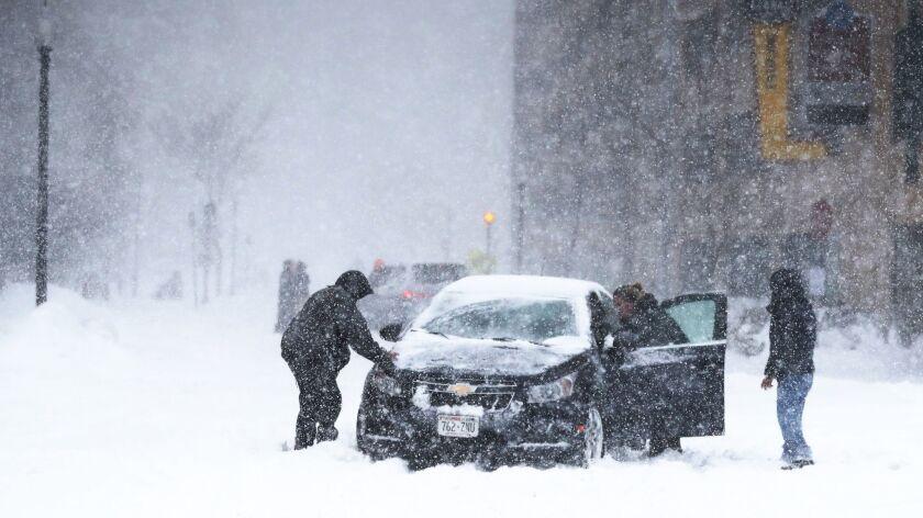 Spring snow in Minnesota