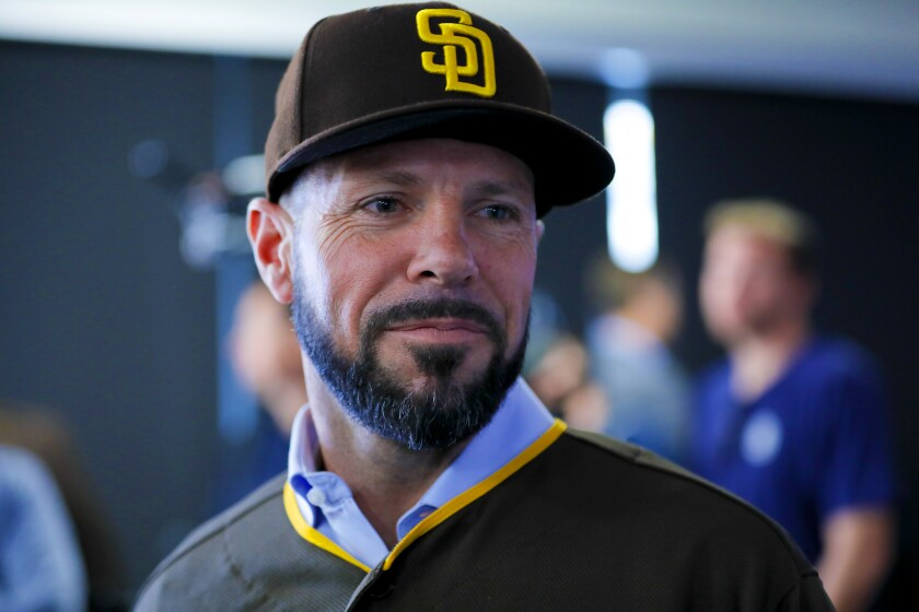 The Padres hired Jayce Tingler, 38, to be their next manager. The former coach and executive with the Texas Rangers was introduced Thursday at Petco Park.