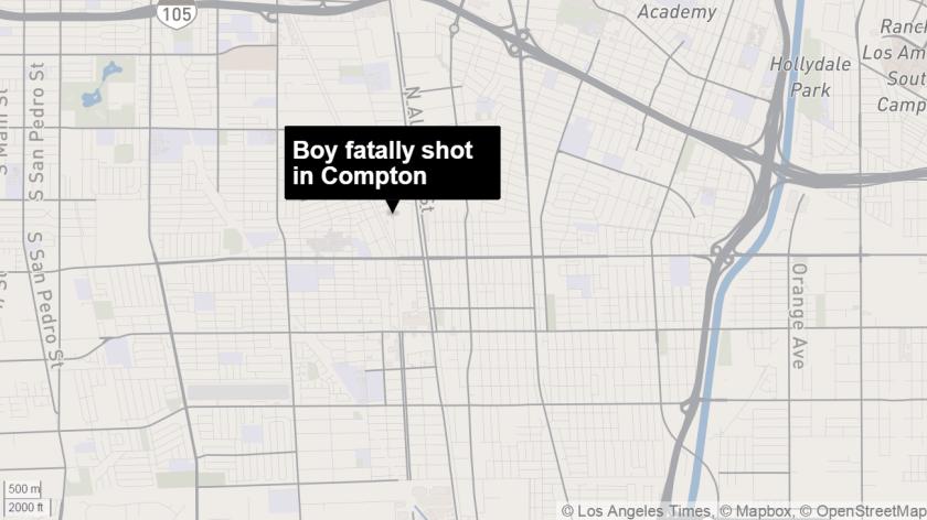 Boy killed in Compton