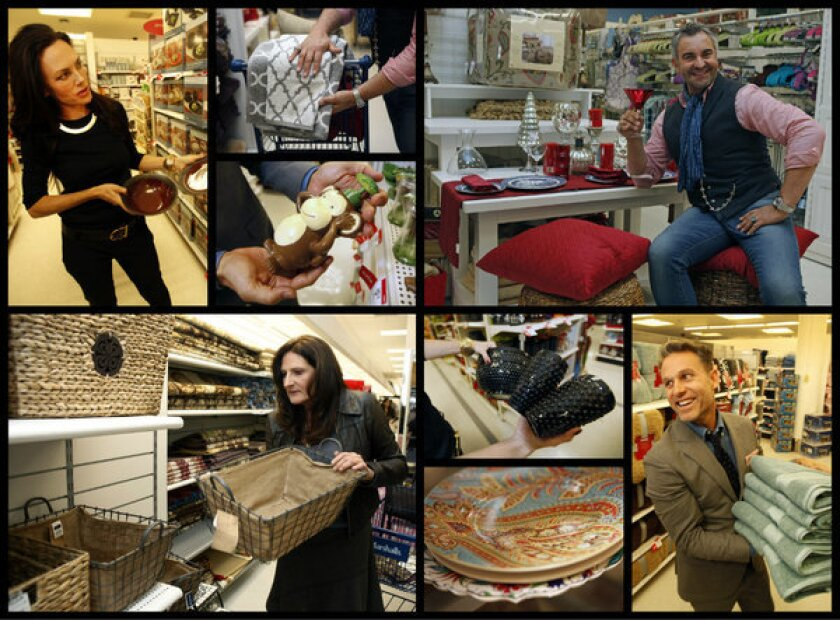 """The stars of """"Million Dollar Decorators"""" -- clockwise from top left, Mary McDonald, Martyn Lawrence-Bullard, Jeffrey Alan Marks and Kathryn Ireland -- answered our call to point out the best buys in Kmart and Marshalls. For specifics on their picks, click to the photo gallery."""