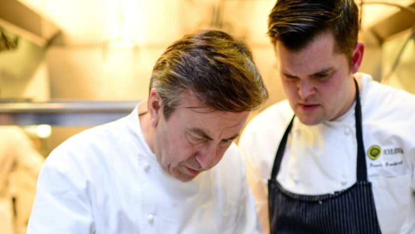 Daniel Boulud's loss and is San Diego's gain: chef Travis Swikard (right) has left Boulud's NBew York City empire to open his first restaurant in San Diego, his hometown.
