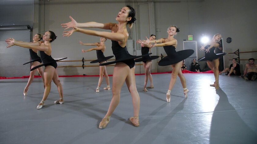 Dancers from the California Ballet, rehearse for their opening season with artistic director Jared N