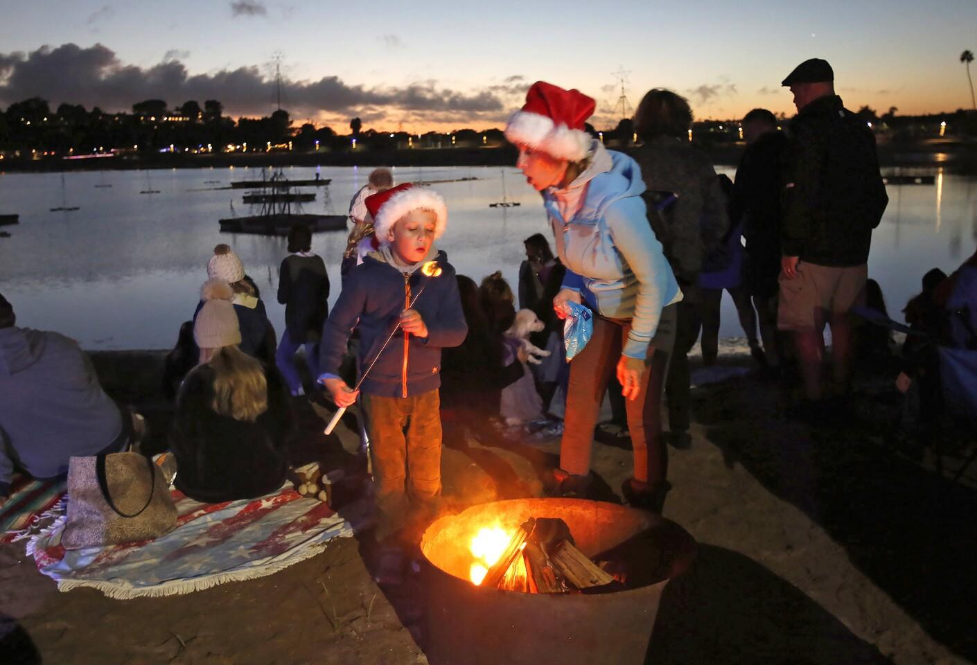 Newport Dunes Waterfront Resort annual tree lighting ceremony