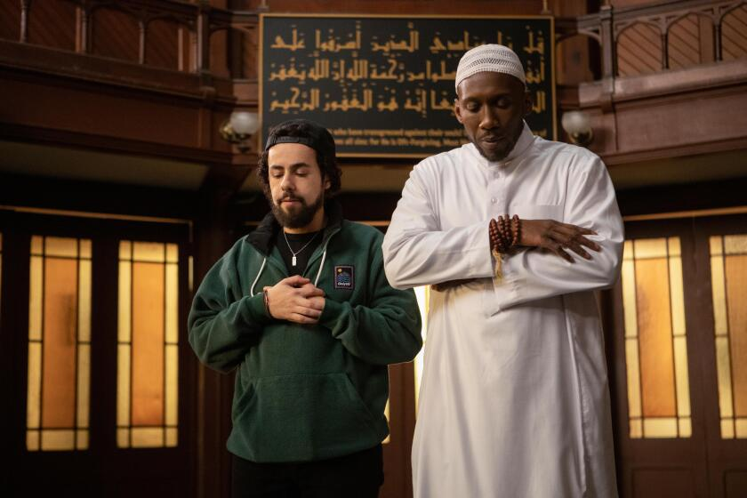 "Ramy Youssef and Mahershala Ali in ""Ramy."""