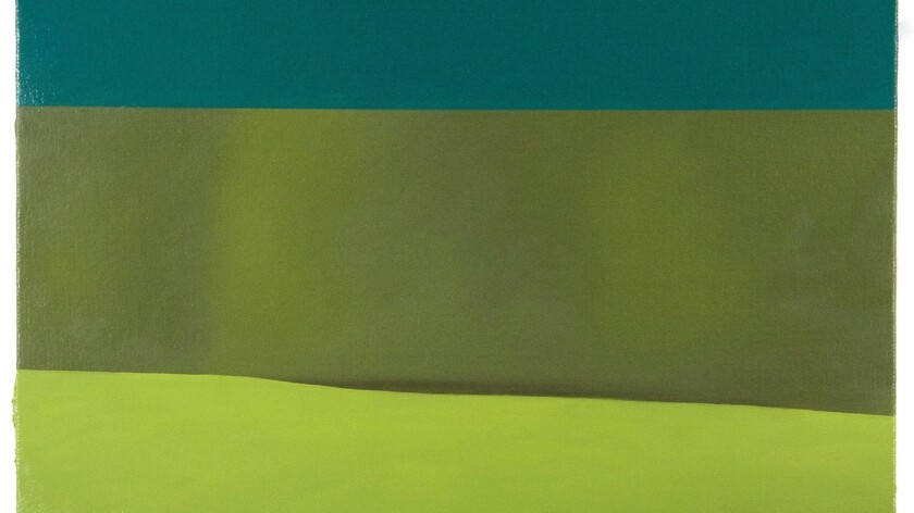Review: A vast landscape unfolds in bands of color: Emily Davis Adams at CB1 Gallery