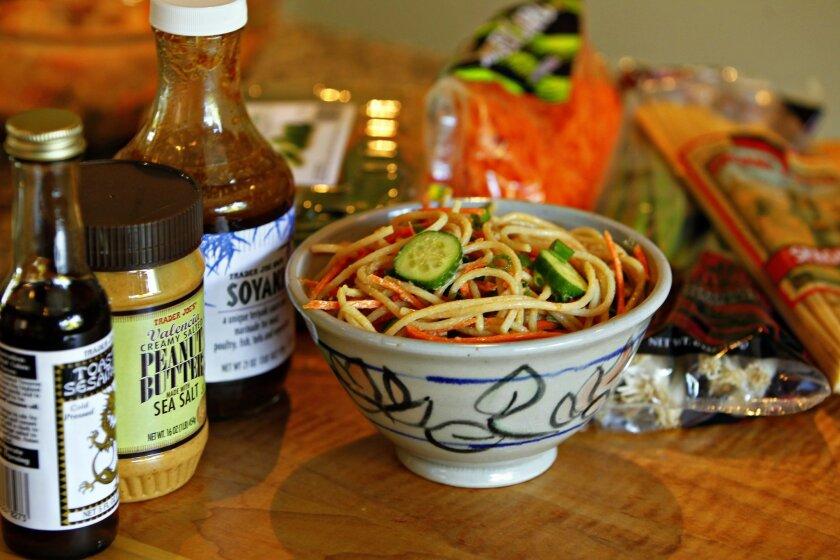 Peanutty Sesame Noodles, one of cookbook author Deana Gunn's Trader Joe's recipes.