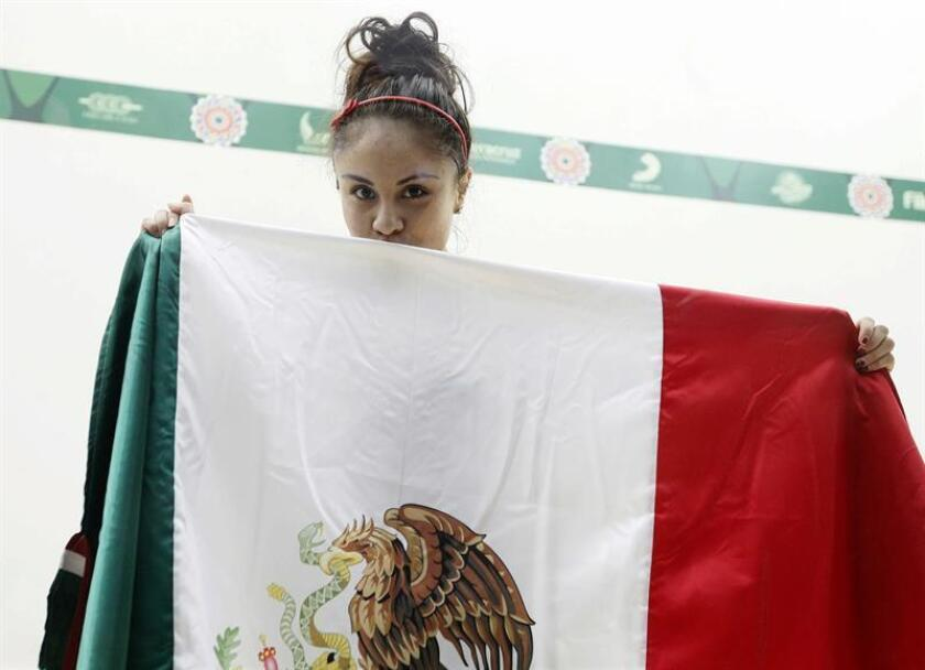 En la imagen, la mexicana Paola Longoria. EFE/Archivo