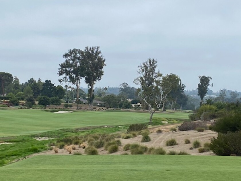 The redone fifth hole of the Rancho Santa Fe Golf Course.