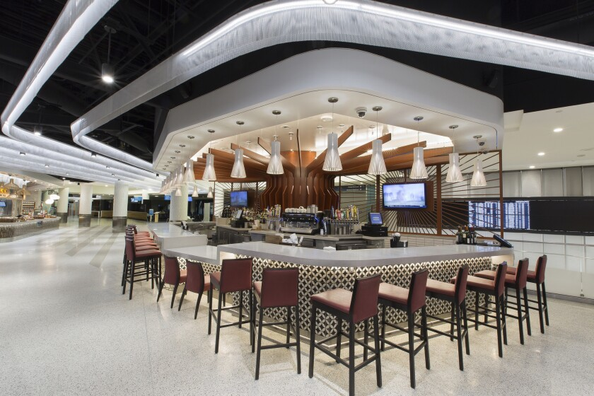 Wolfgang Puck Marketplace includes a pizzeria and a wine bar.