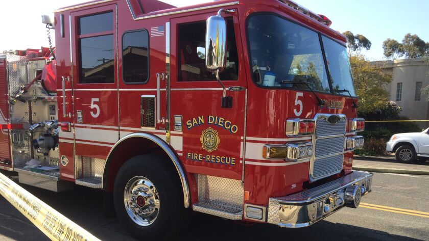 San Diego fire truck from front San Diego Fire-Rescue Department