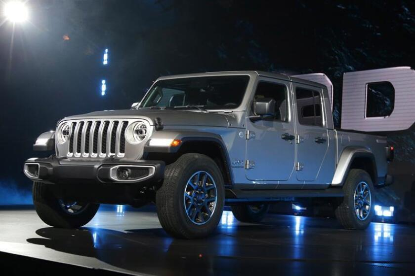 Jeep presented its new pickup - the Gladiator 2020 - on Nov. 29, 2018, at the Automobility LA auto show in Los Angeles. EFE-EPA/MIKE NELSON