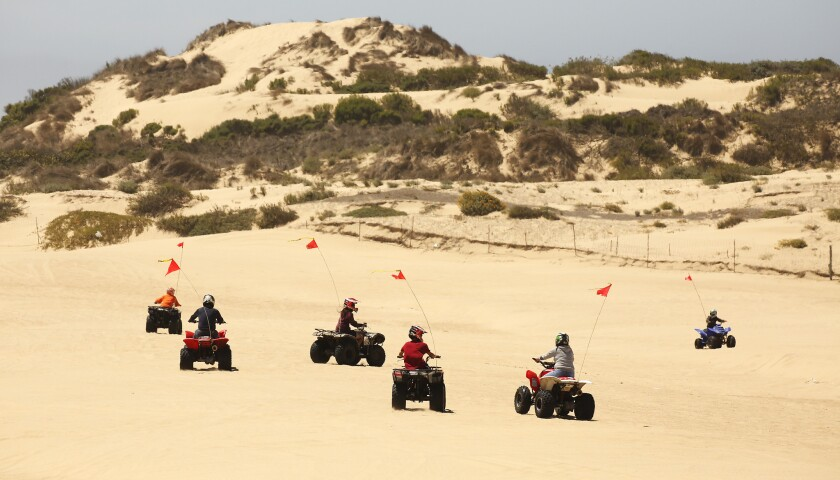 OCEANO, CA - JULY 03, 2019 - Riders of all ages enjoy the sand at The Oceano Dunes, a few miles sout