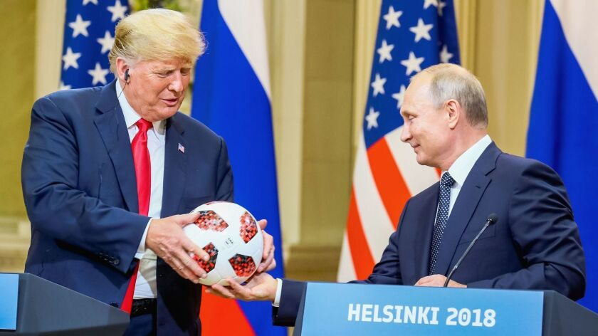 Russia US Summit in Helsinki, Finland - 16 Jul 2018