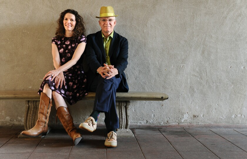 """Edie Brickell and Steve Martin co-wrote the new stage musical """"Bright Star,"""" which will open this month at the Old Globe in San Diego."""