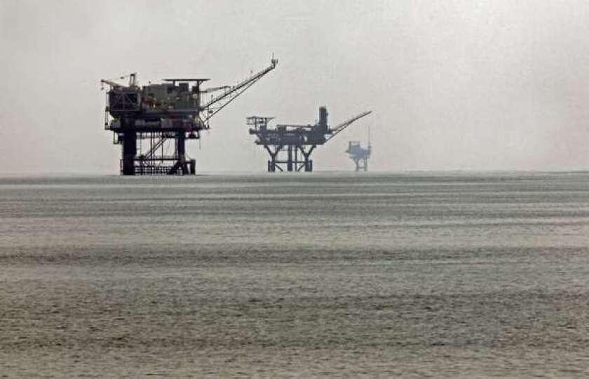 Offshore rigs such as these in the Gulf of Mexico pay federal royalties.