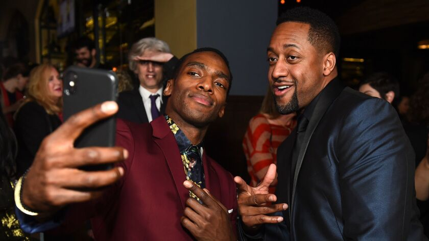 Daniel J. Watts, left, and Jaleel White at the opening night party for the West Coast premiere of Li