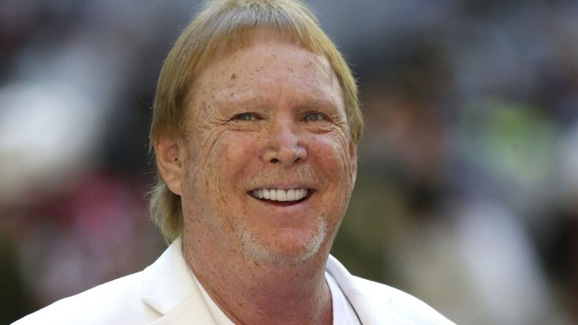Oakland Raiders owner Mark Davis during an NFL football game against the Arizona Cardinals, Sunday,
