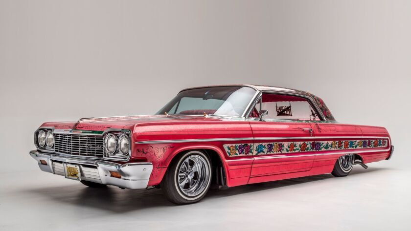 "The legendary Gypsy Rose, one of the lowriders on view in ""The High Art of Riding Low"" at the Peters"