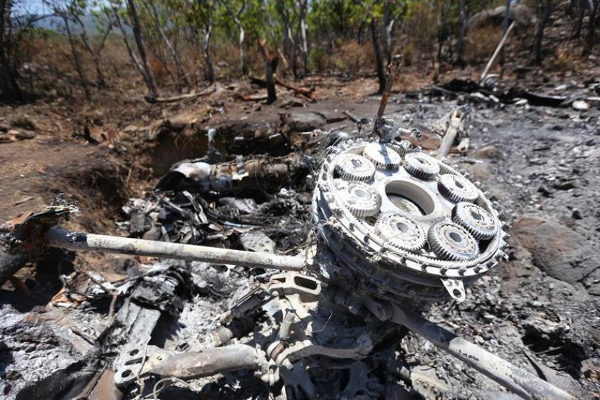 Un militar perdió hoy la vida al desplomarse un helicóptero de la Fuerza Aérea Mexicana en el sureño estado de Guerrero, informó el portavoz de seguridad estatal. EFE/Archivo