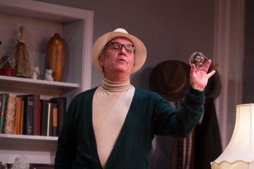 "Todd Blakesley in Diversionary Theatre's ""Tru."""