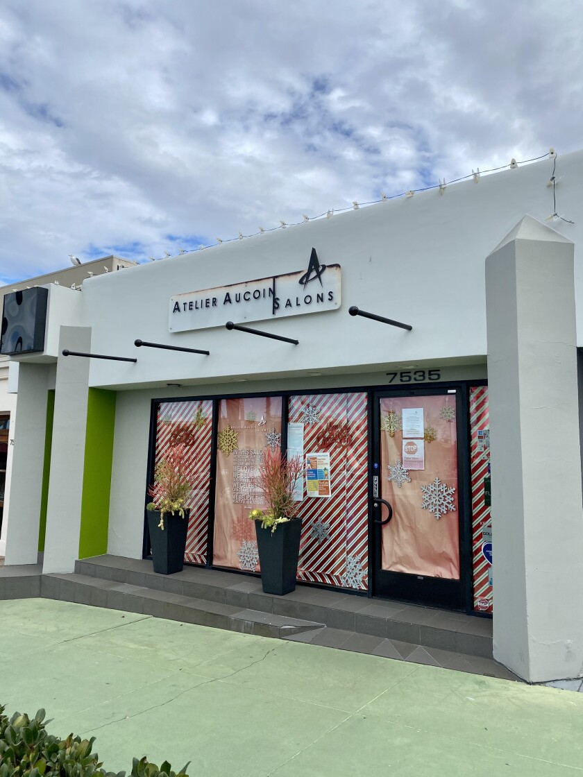 The operator of Atelier Aucoin Salon in La Jolla has filed a lawsuit over the state's COVID-19 closure orders.