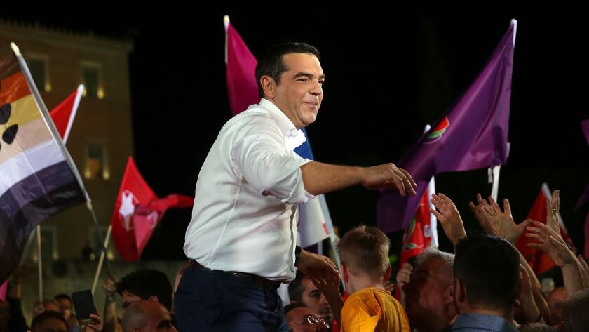 Greek Prime Minister Alexis Tsipras pre-election rally in Athens, Greece - 24 May 2019