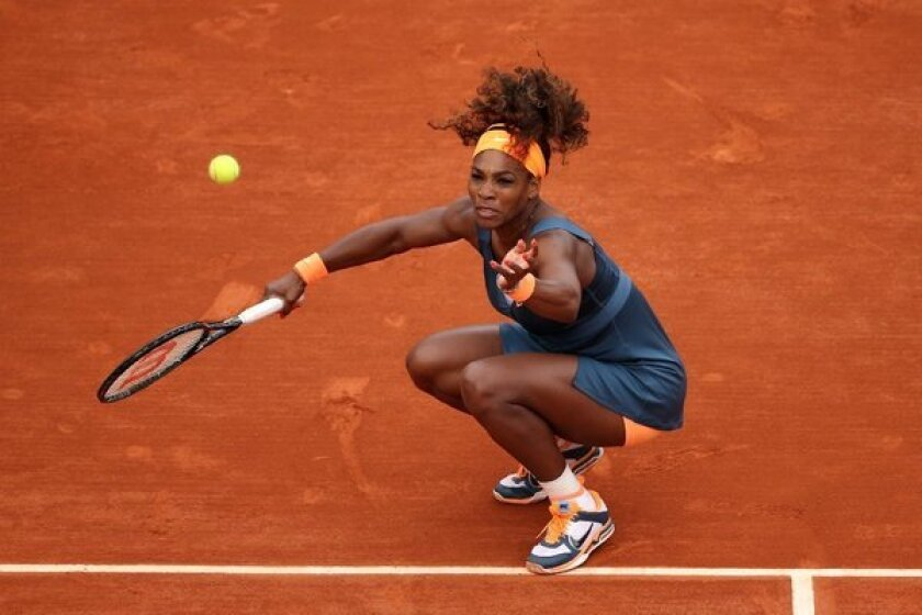 Serena Williams advanced in the French Open on Friday.