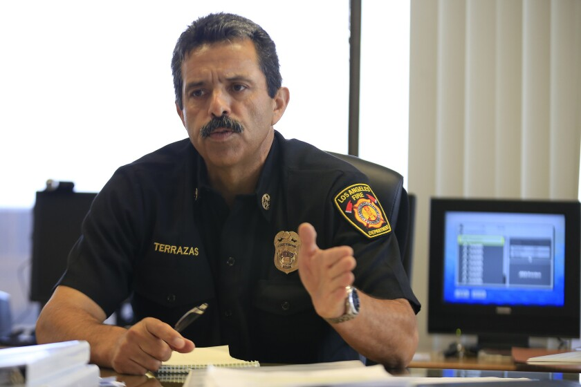 Fire Chief Ralph Terrazas has said speeding up the LAFD's response to 911 calls for help is a top priority of his administration.