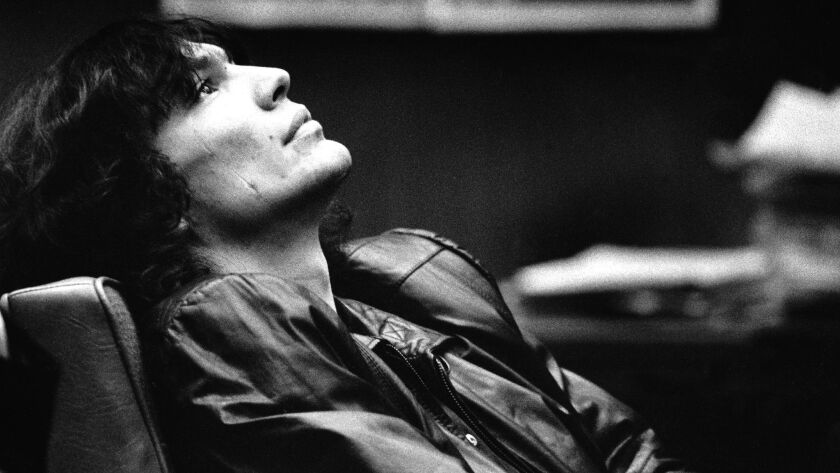 JAN. 25, 1988 -- Richard Ramirez, accused 'Night Stalker' suspect, during the hearing in which his t