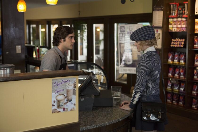 Pete (Diego Boneta) and Grace (Skyler Samuels) meet for the first time.
