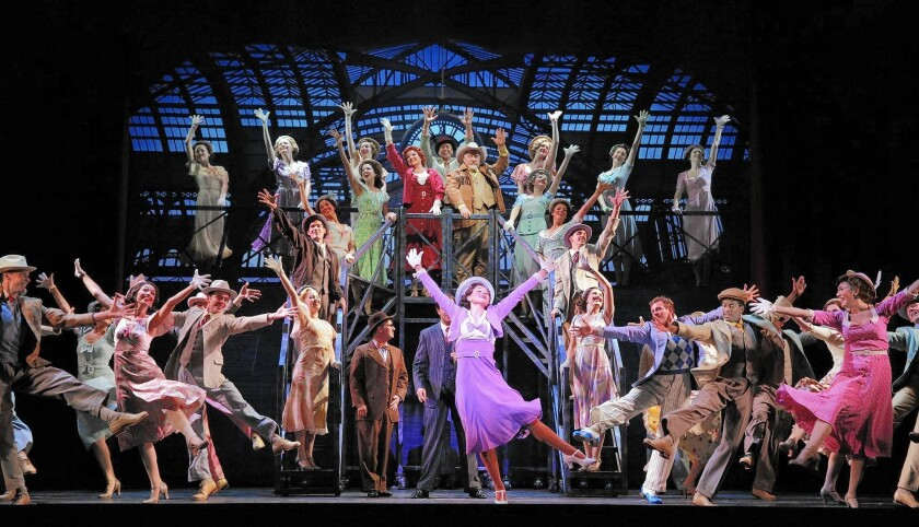 """""""42nd Street"""" is being performed at Segerstrom Center for the Arts through Nov. 22."""