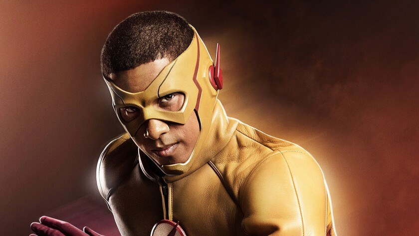 "Actor Keiynan Lonsdale debuts his Kid Flash costume from ""The Flash."""