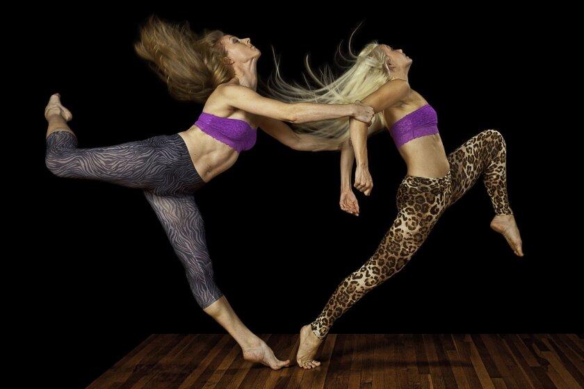 Malashock dancers Blythe Barton (left) and Courtney Meadows.