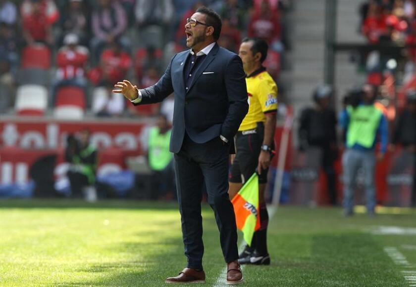 En la imagen, el técnico de Monterrey, Antonio Mohamed. EFE/Archivo