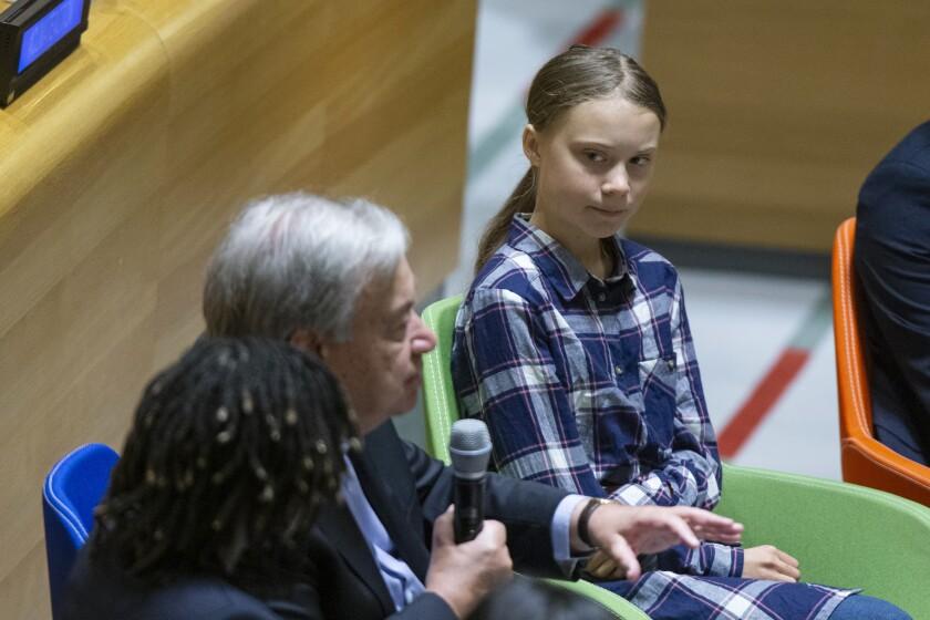 Greta Thunberg and Antonio Guterres
