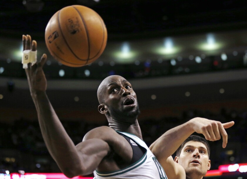 Boston center Kevin Garnett has been the subject of recent trade rumors involving the Clippers.